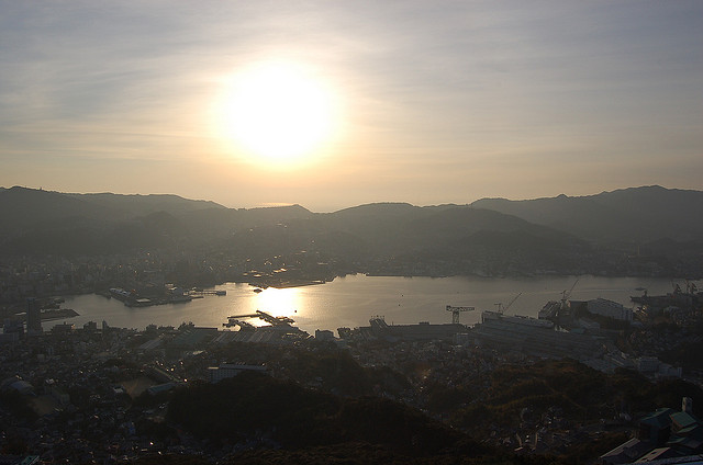 New Year Sunrise at Nagasaki by Marufish