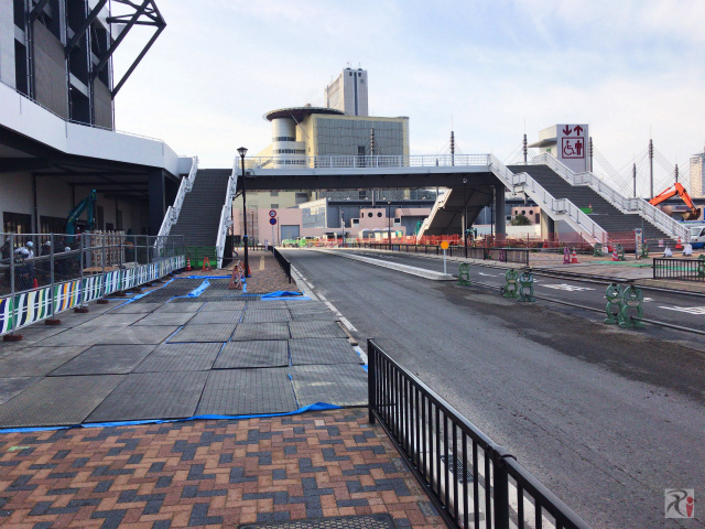 北九州スタジアム前の歩道橋
