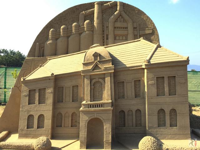 官営八幡製鉄所旧本事務所の砂像