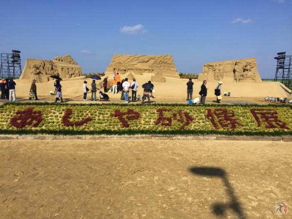 期間限定開催中、芦屋海浜公園「あしや砂像展2015」を見に行ってきた
