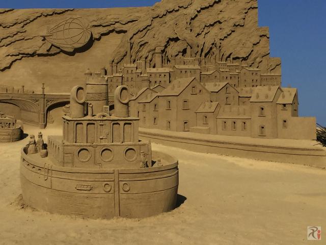 砂像・ロンドンの風景