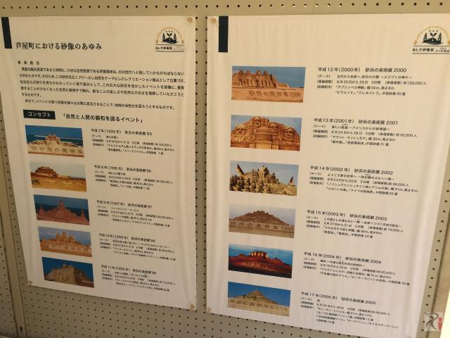 過去の砂像展の歴史資料