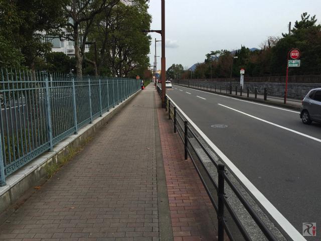 大学前の歩道