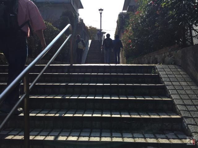 シーオーレ新宮前の階段
