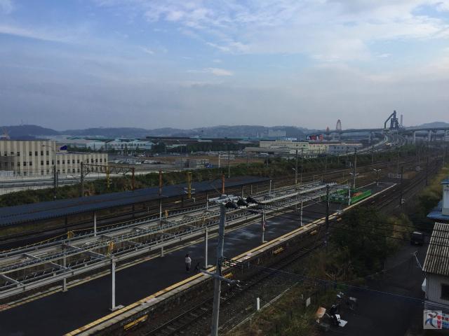 八幡駅立体駐車場からの景色