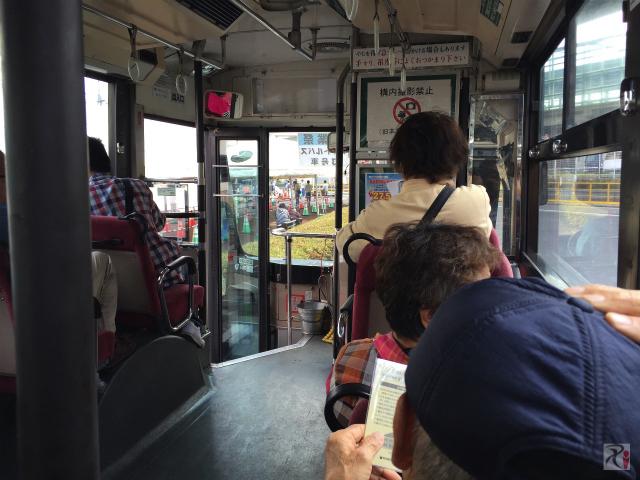 無料見学会送迎バス車内