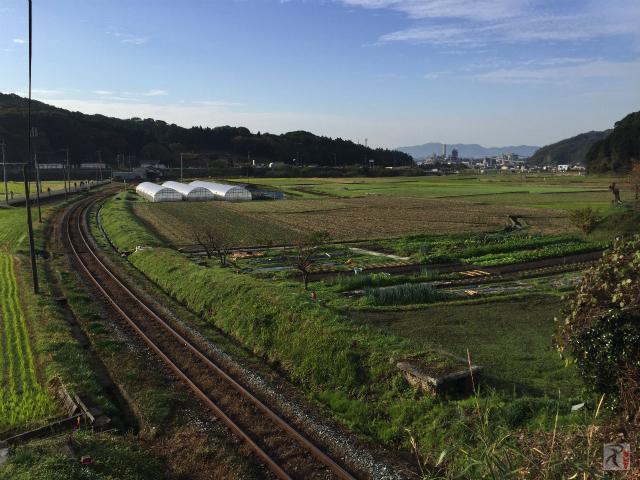 香春駅方面の景色