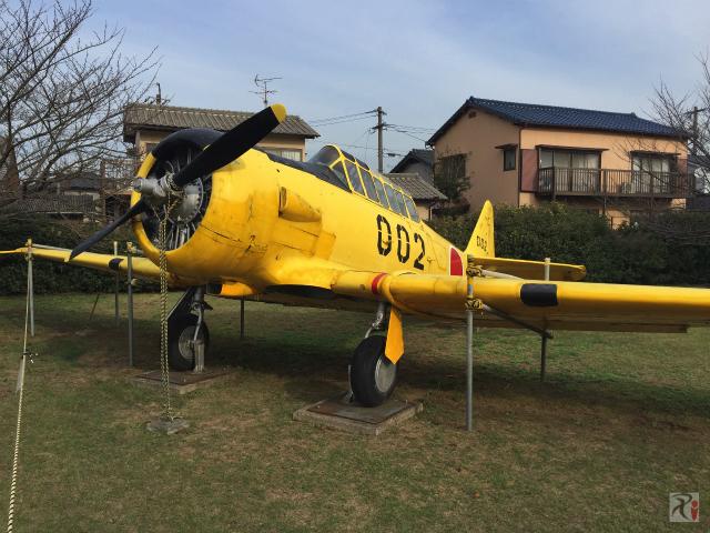 展示されてる航空機