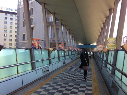 キャナルシティ博多への連絡路