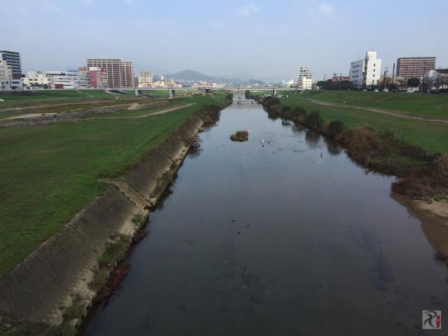 嘉麻川橋から遠賀川