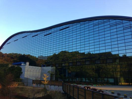 九州国立博物館の裏側