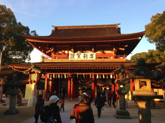 天満宮の桜門
