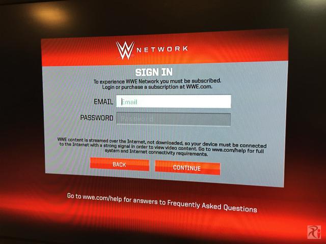WWEネットワーク情報を入力