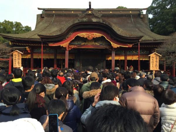 正月の翌週に太宰府天満宮へ受験合格祈願に行ってきたけどやっぱり人多いわ!