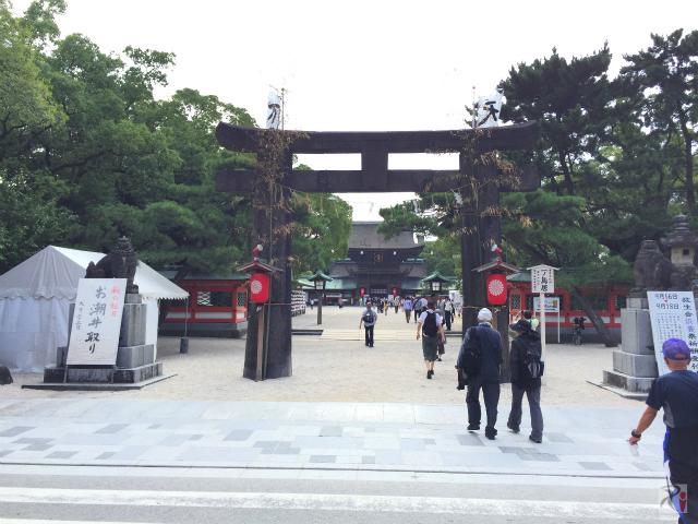 秋シーズン開幕、久々の散策で筥崎宮の放生会を見物【Walk箱崎】