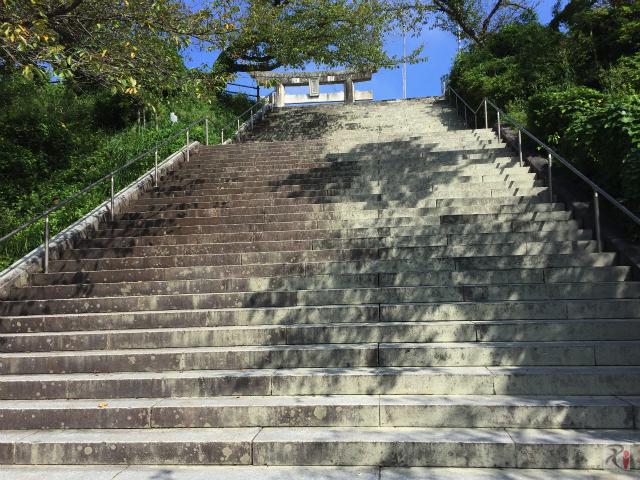 西公園の階段