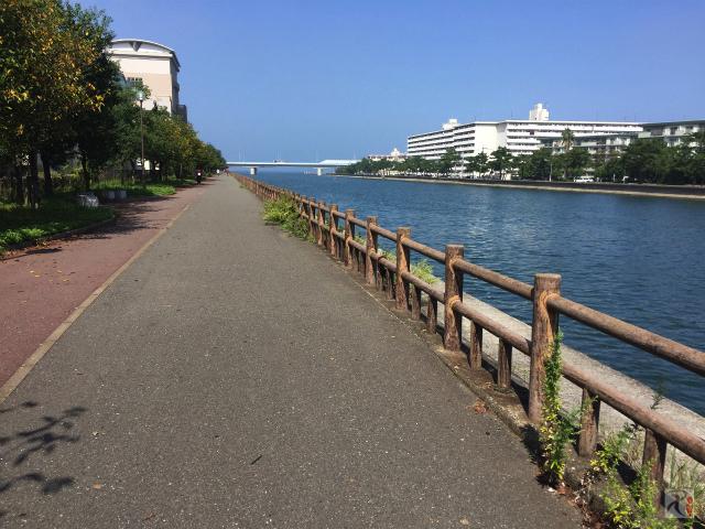 菰川沿い遊歩道