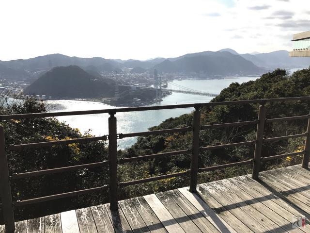 火の山公園から関門海峡