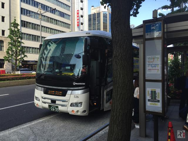 シャトルバス東京駅バス停