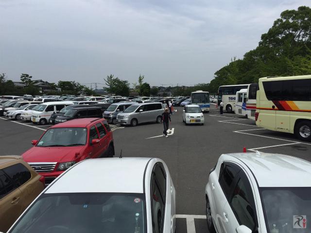 満車の垣生公園駐車場
