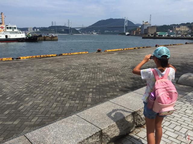 関門海峡と関門橋