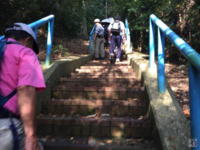 黒崎城址の階段