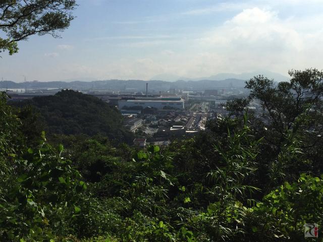 黒崎城址からの景色
