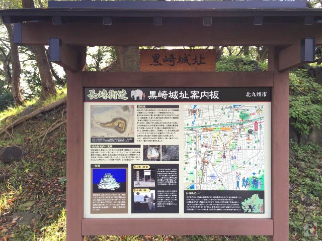 黒崎城址の案内板