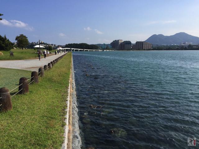 博多湾沿いの遊歩道