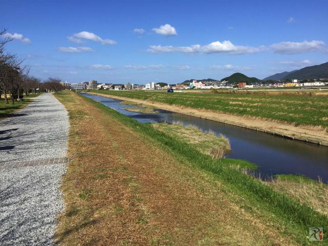 釣川の遊歩道