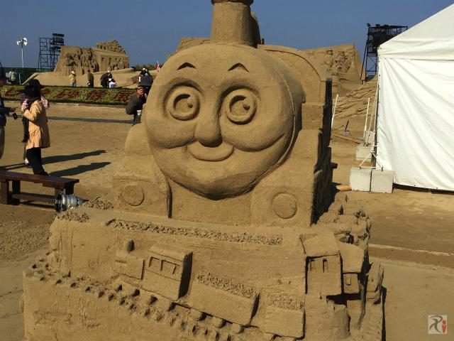 きかんしゃトーマスの砂像