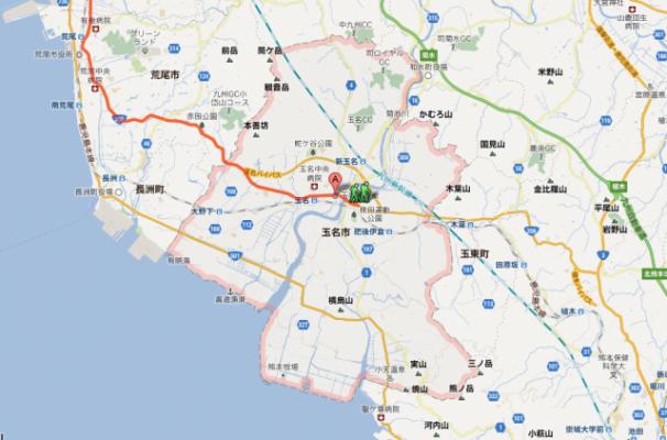 熊本県玉名市に着きました【ヴァーチャル九州一周】