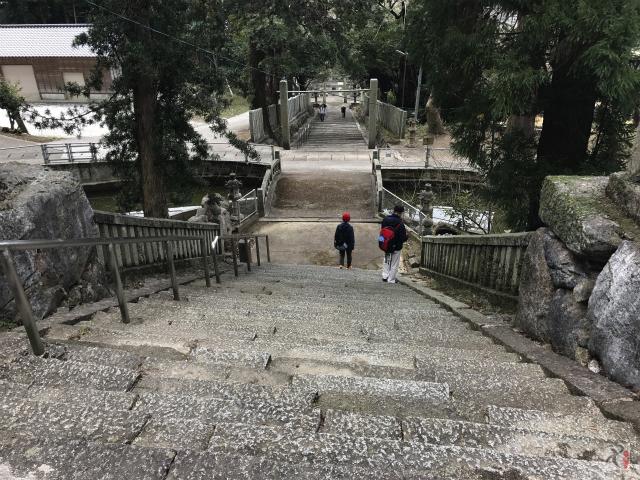 香春神社の階段