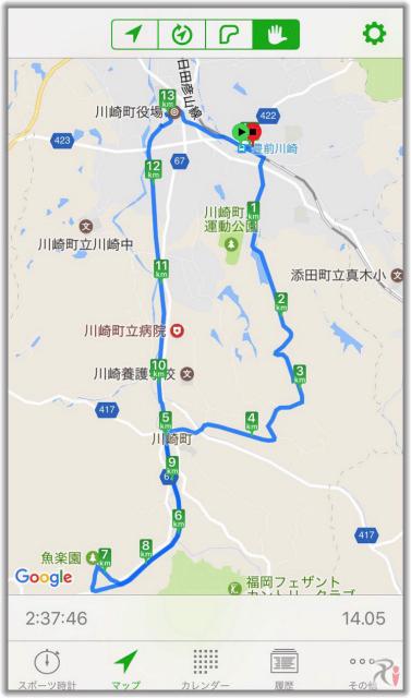 豊前川崎ウォークマップ