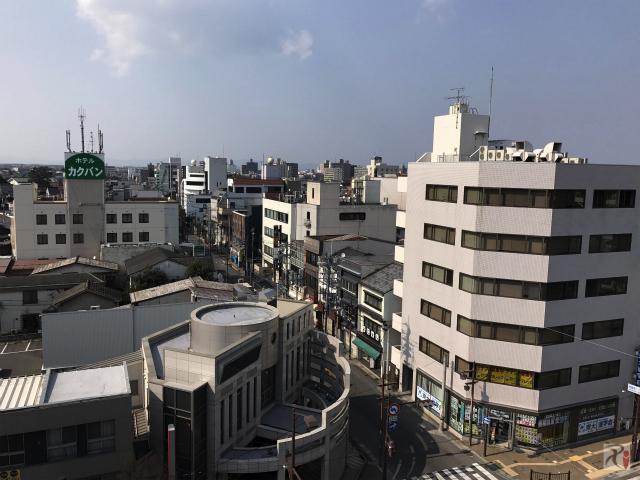 米子市街地の風景