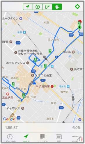 米子ウォーク、コースマップ