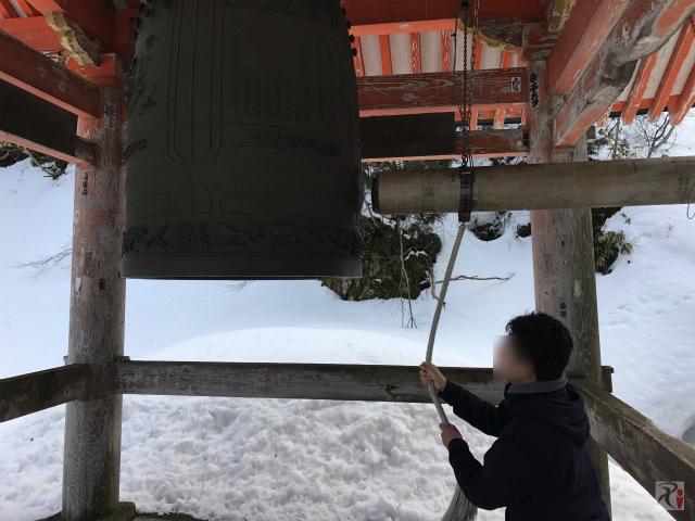 大山寺の開運鐘