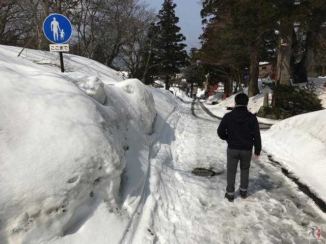 大山寺前の参拝路