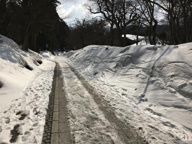 大山寺への坂道