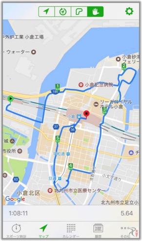 Walk西小倉コースマップ