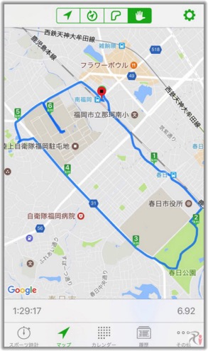 Walk南福岡コースマップ