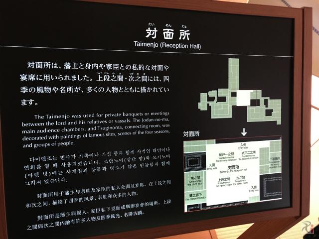 本丸御殿対面所の案内図