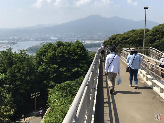 高塔山山頂展望台からの景色