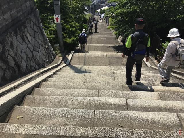高塔山の階段