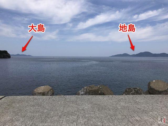 大島と地島