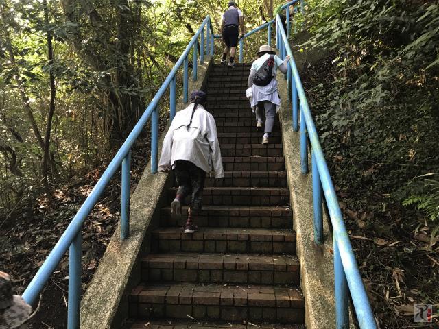 道伯山の階段
