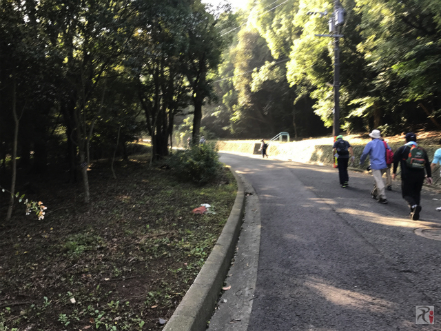 道伯山の坂道