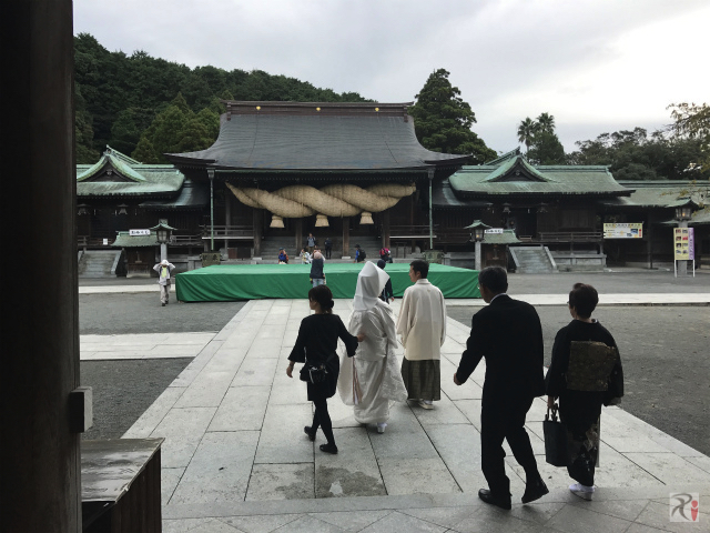 宮地嶽神社で結婚式