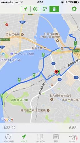 Walk戸畑コースマップ