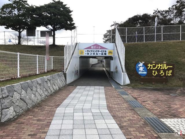 敷地内のトンネル